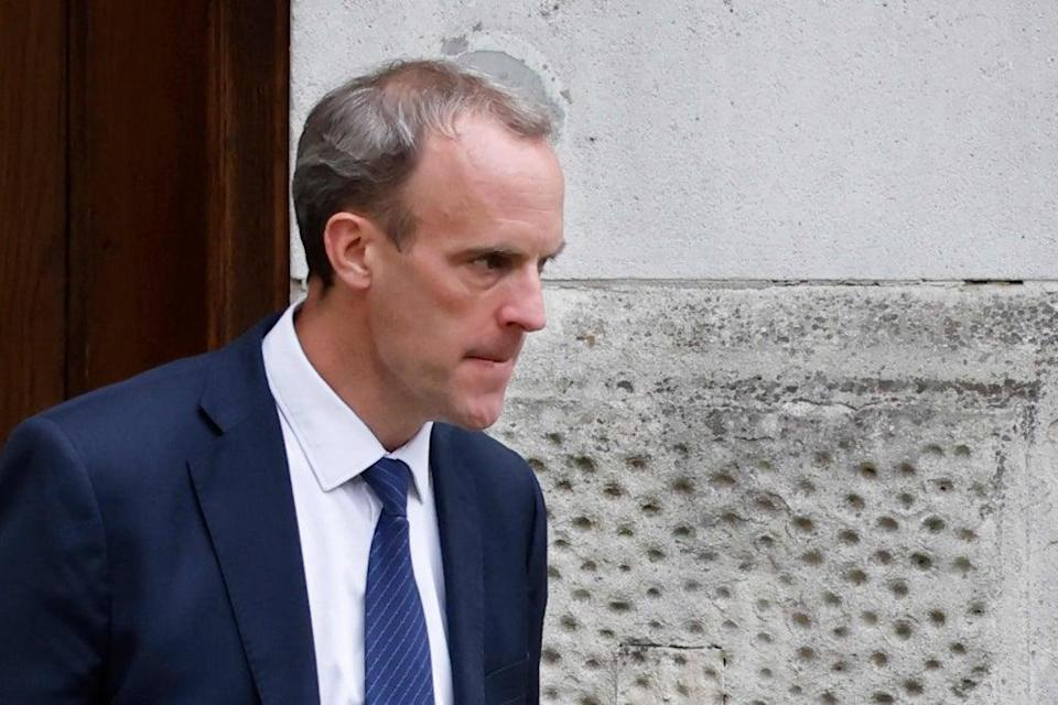 Dominic Raab has escaped justified calls for his resignation  (AFP/Getty)