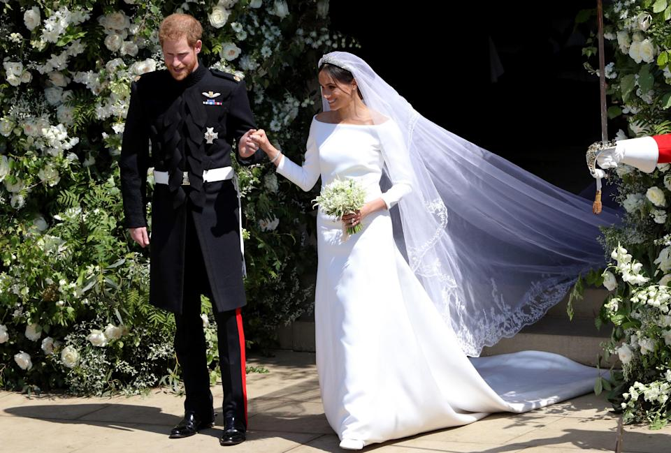 Meghan had the flora of all 53 nations embroidered on to her wedding veil (Getty)