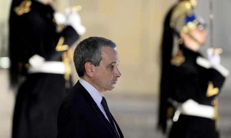 Laurent Stefanini at the Elysee palace in Paris on April 10, 2015