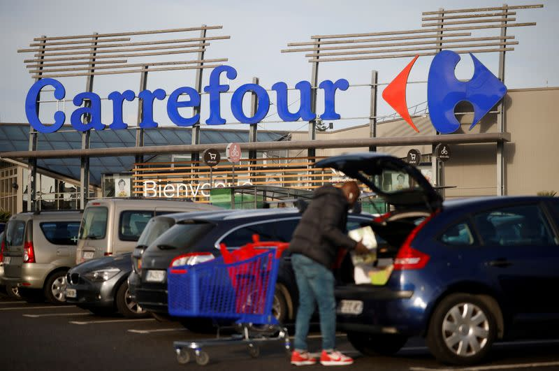 FILE PHOTO: Carrefour Hypermarket store in France