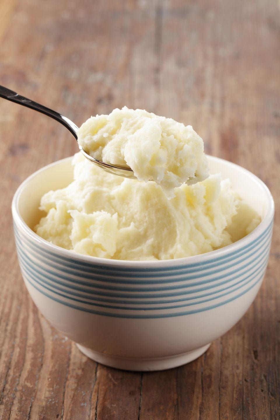 "<p>A classic staple for just about any feast, these mashed potatoes have a dash of country.</p><p><strong><a href=""https://www.countryliving.com/food-drinks/recipes/a1020/country-mashed-potatoes-3125/?click=main_sr"" rel=""nofollow noopener"" target=""_blank"" data-ylk=""slk:Get the recipe"" class=""link rapid-noclick-resp"">Get the recipe</a>.</strong></p>"