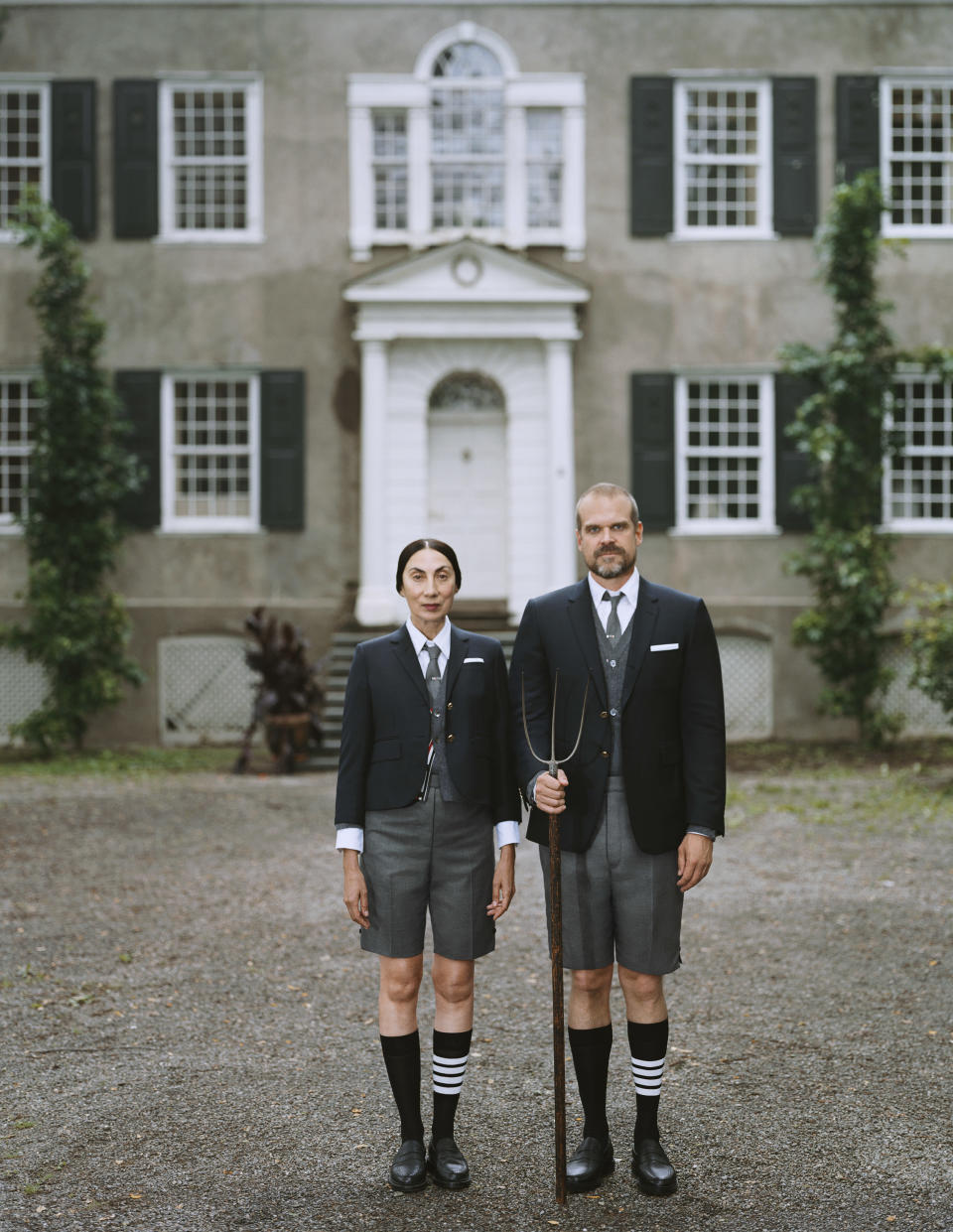 Thom Browne's latest project features Ahn Duong and David Harbour. - Credit: Courtesy of Thom Browne