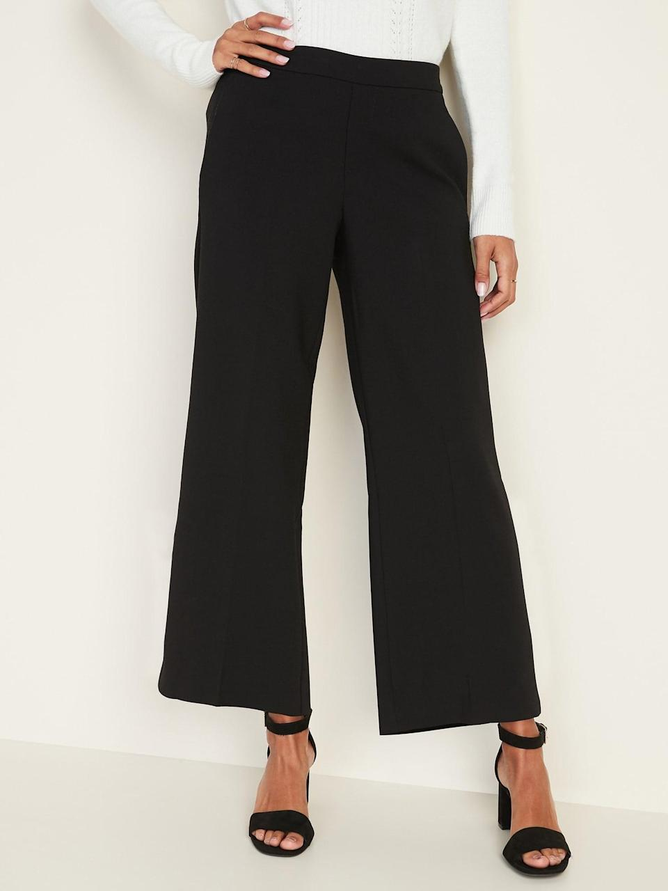 <p>You can style these classic <span>Old Navy Mid-Rise Pull-On Wide-Leg Pants</span> ($28, originally $35) so many ways.</p>