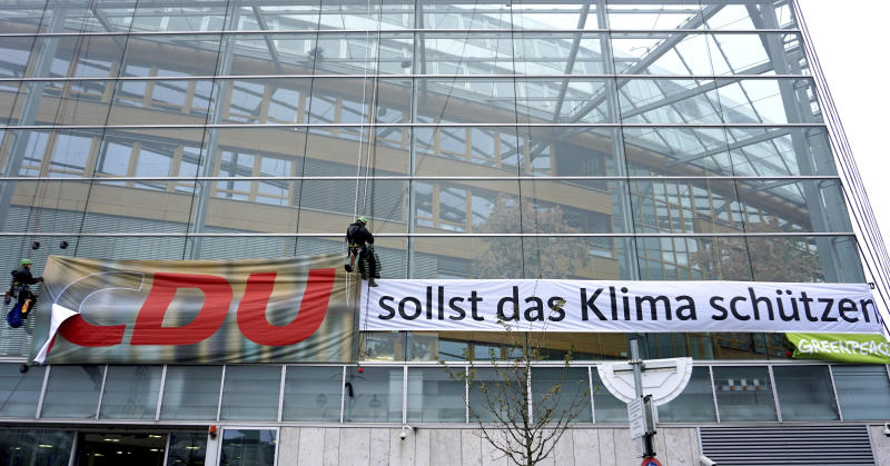 Germany Christian Democrats Protest