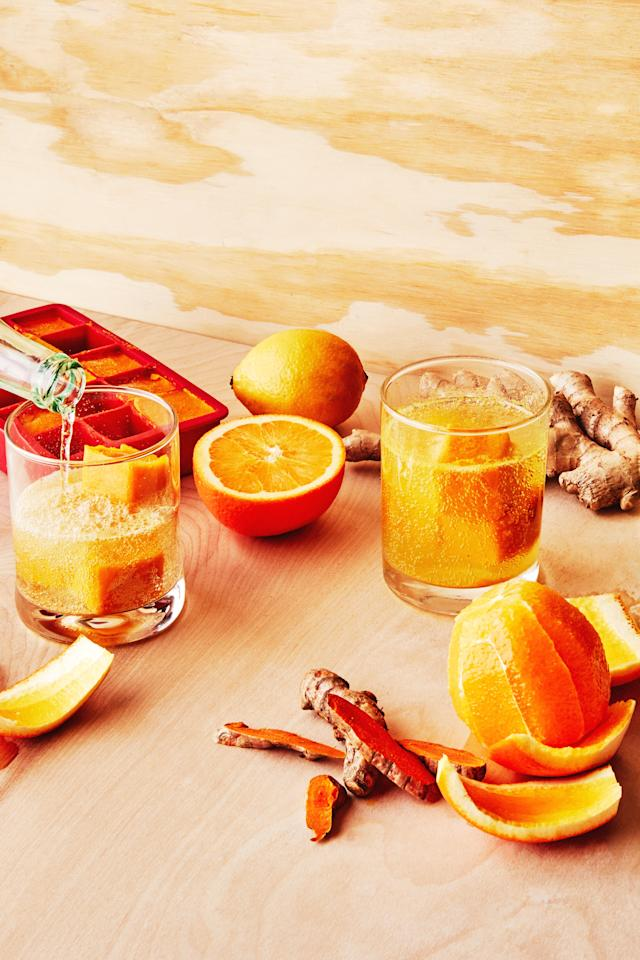 """<p><strong>Why it's good:</strong> This humble, pungent root is nature's multivitamin: It's full of magnesium, iron, zinc, and calcium. Ginger also acts as an antiviral and antibacterial, <em>and</em> it's packed with antioxidants.</p> <p><strong>How to use it:</strong> """"My favorite way to use ginger is to blend it with water and strain it into little <a href=""""https://www.bonappetit.com/story/homemade-ginger-shots?mbid=synd_yahoo_rss"""">immunity shots</a> that you can take multiple times a day,"""" says Robinett. But if that sounds like too much of a throat burner, try covering your steamed veggies in <a href=""""https://www.bonappetit.com/recipe/steamed-kabocha-with-ginger-soy-dressing?mbid=synd_yahoo_rss"""">a punchy dressing</a> or bathing your chicken in <a href=""""https://www.bonappetit.com/recipe/garlic-ginger-chicken-with-cilantro-and-mint?mbid=synd_yahoo_rss"""">this zesty marinade</a>. (This probably doesn't count, but we'll just leave these <a href=""""https://www.bonappetit.com/recipe/chewy-ginger-rye-cookies?mbid=synd_yahoo_rss"""">chewy ginger cookies</a> here, too.)</p> <p><strong>Things to note:</strong> While you can totally cook ginger, Robinett advocates trying it raw for the most potent immunity boost.</p> <a href=""""https://www.bonappetit.com/story/homemade-ginger-shots?mbid=synd_yahoo_rss"""">See article.</a>"""