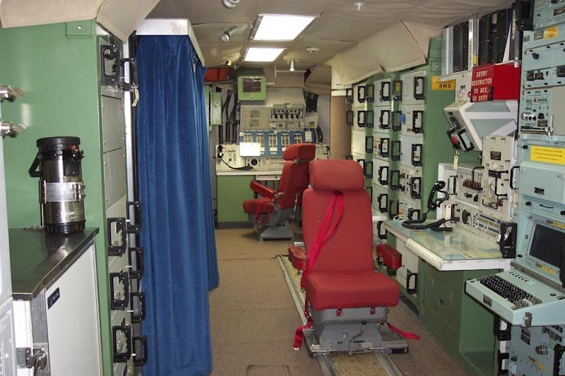 """FILE - This file photo provided by the National Park Service shows the inside of the deactivated Delta Nine Launch Facility near Wall, S.D., that is now open to the public. The Air Force stripped an unprecedented 17 officers of their authority to control _ and if necessary launch _ nuclear missiles after a string of unpublicized and unacceptable failings, including a potential compromise of missile launch codes. The group's deputy commander said it is suffering """"rot"""" within its ranks. The tip-off to trouble was a March 2013 inspection of the 91st Missile Wing at Minot Air Force Base, N.D., which earned the equivalent of a """"D"""" grade when tested on its mastery of Minuteman III missile launch operations. (AP Photo/National Park Service, File)"""