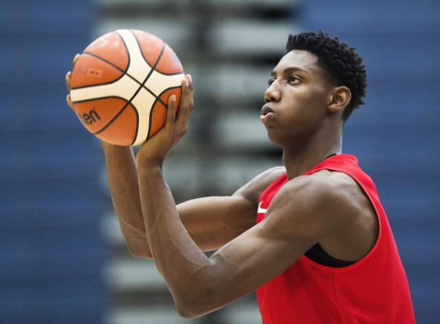 R.J. Barrett led Canada to the U-19 world title last summer. (AP)