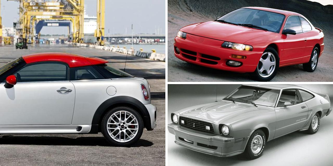 "<p>Traditional, two-door coupes are a dying breed, having fallen from favor in the 2000s after experiencing a high point in the '90s. While coupes are now experiencing, at least in name, an alternate-reality resurgence in four-door and, <a href=""https://www.caranddriver.com/features/g24844580/crossover-coupes-suvs/"" target=""_blank"">weirdly enough, SUV forms</a> these days, take a nostalgic trip back in recent time with us and check out the 25 coupes we dredged up that you probably haven't thought of in years-if you ever knew they existed at all.<br> </p>"