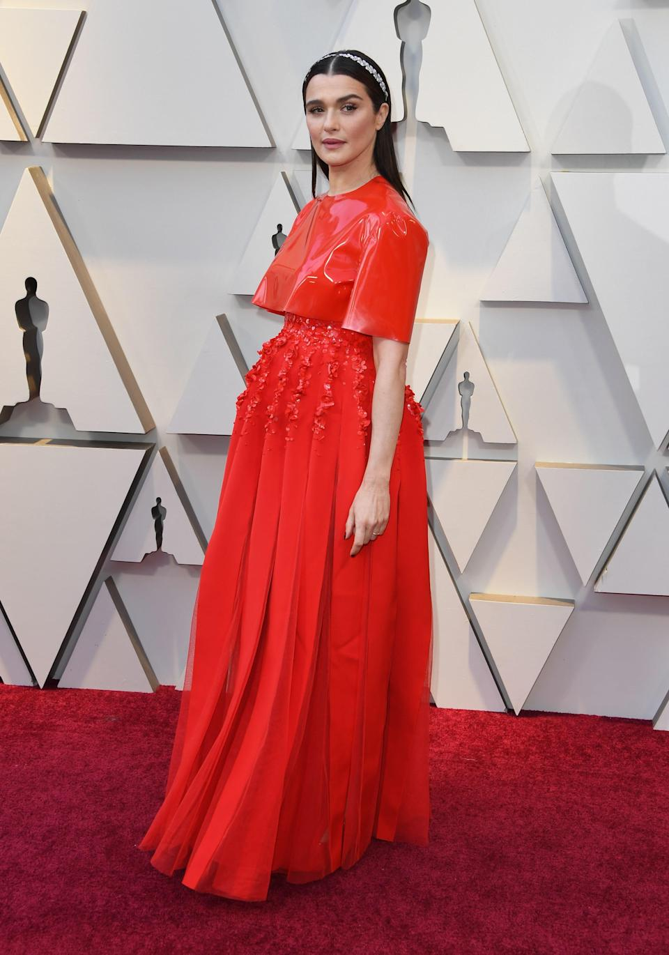 Rachel Weisz in Givenchy Couture and Cartier jewelry