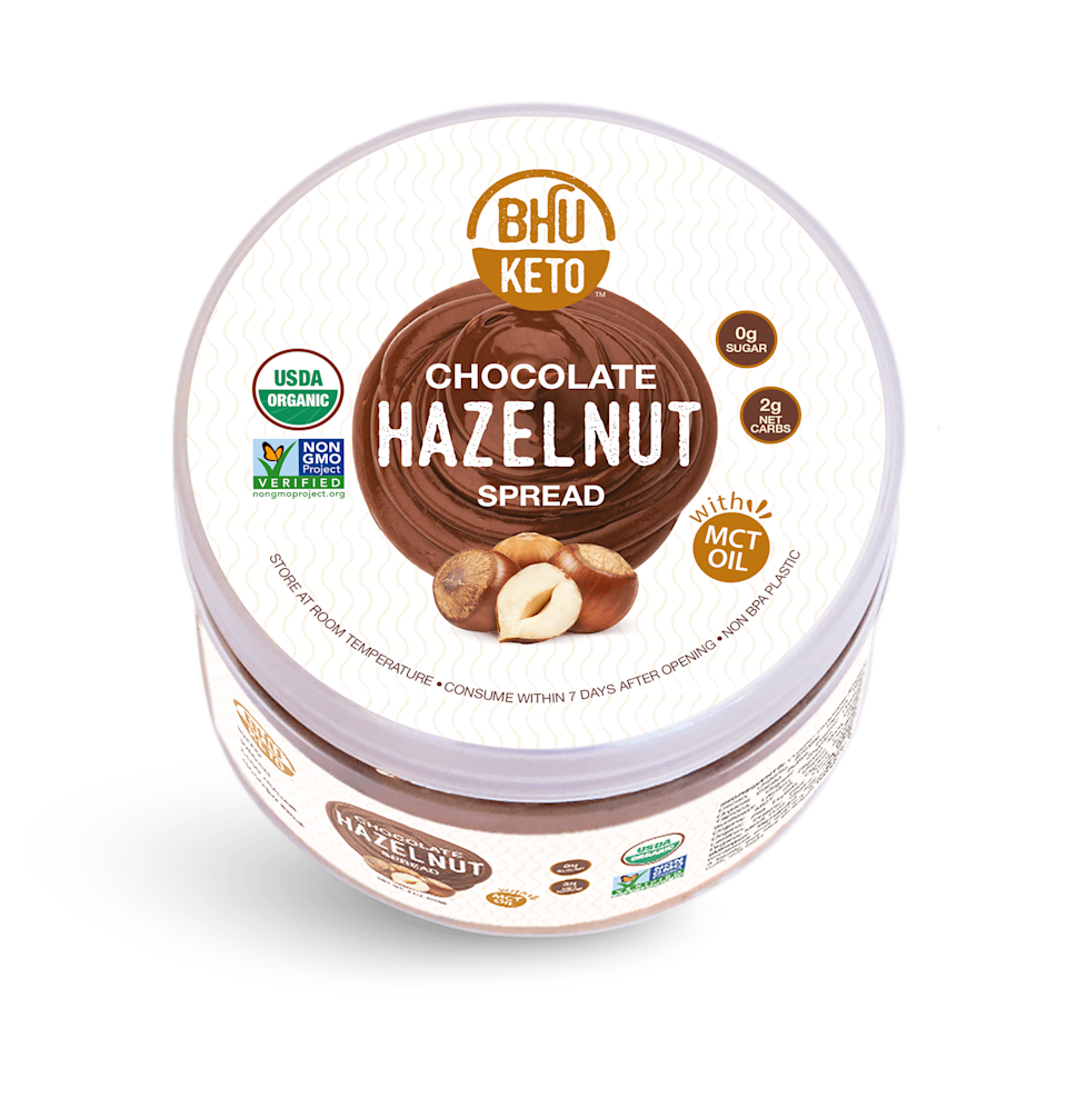 """<p>""""I'm not keto, but I also need to watch my sugar intake with my insulin-resistant PCOS, which means I need to eat sweets sparingly. Luckily, Bhu Foods sent me a sugar-free and low-carb <span>Chocolate Hazelnut Spread</span> ($15), which I have been loving on fruit and rice cakes. It tastes like your favorite store-bought chocolate hazelnut spread with more healthy fats and less sugar. Definitely a pantry staple."""" - CS</p>"""