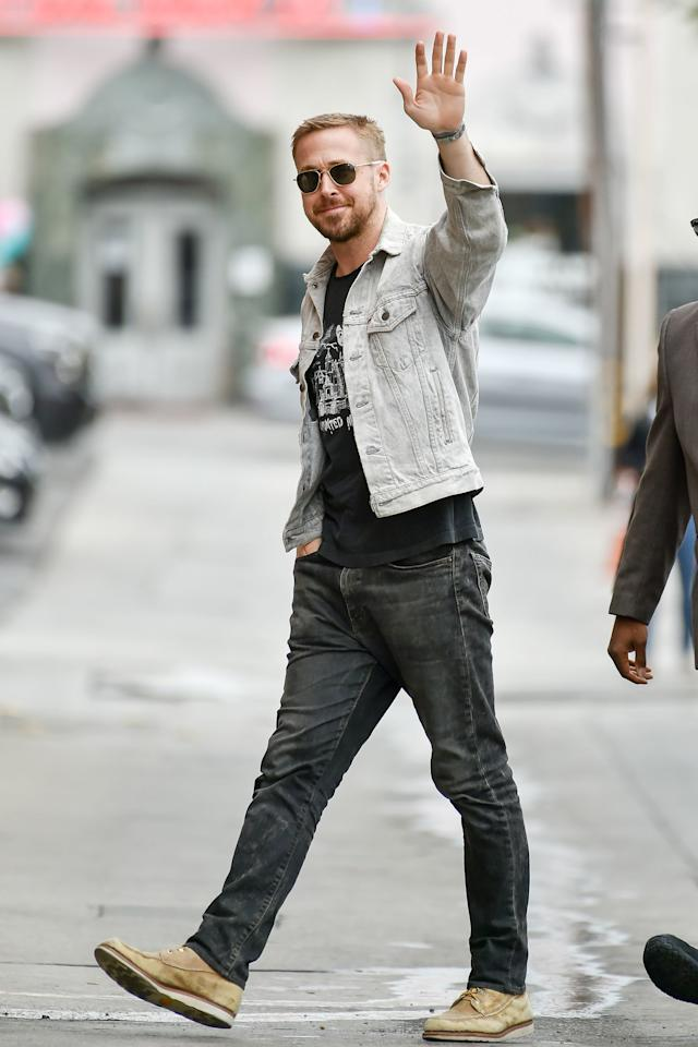 He's waving at us, right?