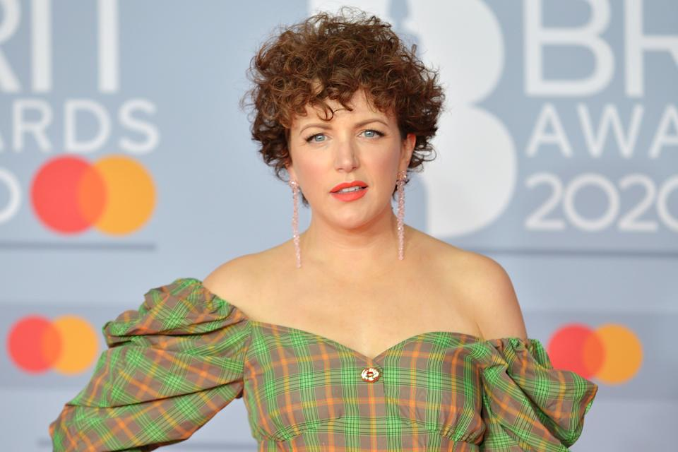 Annie Mac attends The BRIT Awards 2020 at The O2 Arena on February 18, 2020 in London, England. (Photo by Jim Dyson/Redferns)