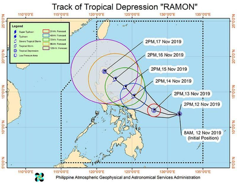 Pagasa: 'Ramon' slows down while moving west