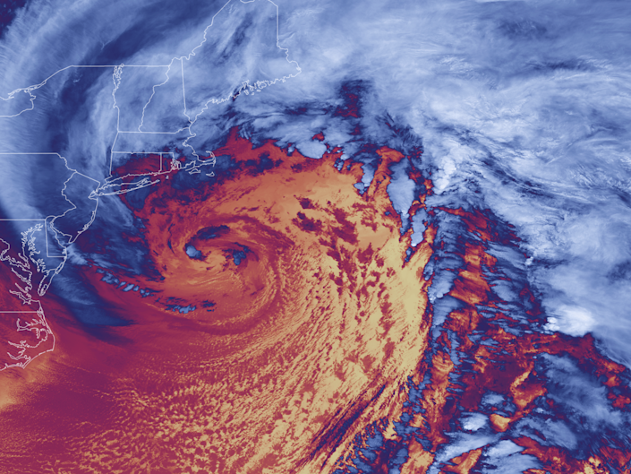 Thermal imagery of a bomb cyclone: National Oceanic and Atmospheric Administration