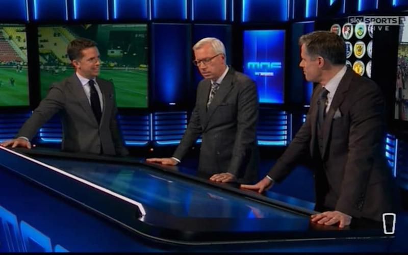 Pardew on Monday Night Football - Credit: Sky Sports
