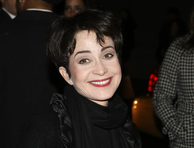 """<b>Annie Potts (Janine Melnitz)</b> <br><br> Memorably playing the distinctively-voiced Janine in the two 'Ghostbusters' films, she has been an ever present figure on the small screen since, most recently starring in 'Boston Legal', 'Ugly Betty' and 'Two and a Half Men'. Big screen wise, she starred in two John Hughes movies, 'Pretty in Pink' and 'She's Having a Baby', as well as other films such as 'Jumpin' Jack Flash' and 'Texasville'. For a new generation of cinemagoers, she is probably best known for voicing Bo Peep in the 'Toy Story' movies. <br><br>[<b>See more</b>: <em><a href=""""http://yhoo.it/uWUvPy"""" rel=""""nofollow noopener"""" target=""""_blank"""" data-ylk=""""slk:Our Ghostbusters 3 fantasy cast"""" class=""""link rapid-noclick-resp"""">Our Ghostbusters 3 fantasy cast</a></em>]"""