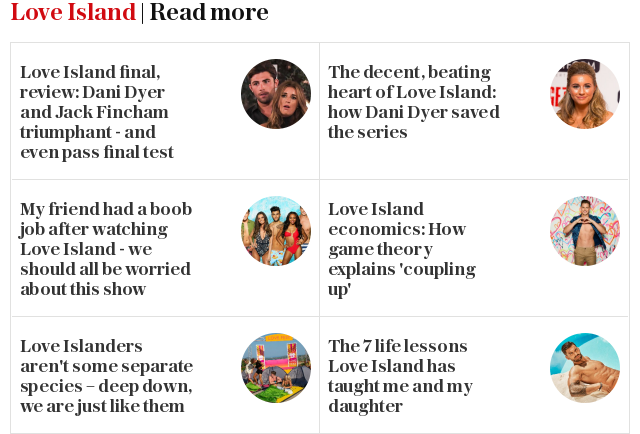Love Island | Read more