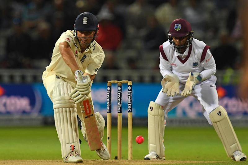 In the spotlight: Alastair Cook enjoys playing under the lights as he hits his first Test hundred since giving up the captaincy: AFP/Getty Images