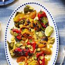 """<p>Here's a super easy way to get your daily serving of veggies: with a heap of warm, zesty queso. </p><p><em><a href=""""https://www.goodhousekeeping.com/food-recipes/a28186791/charred-peppers-with-queso-blanco-recipe/"""" rel=""""nofollow noopener"""" target=""""_blank"""" data-ylk=""""slk:Get the recipe for Southwest Steak Wraps »"""" class=""""link rapid-noclick-resp"""">Get the recipe for Southwest Steak Wraps »</a></em></p>"""