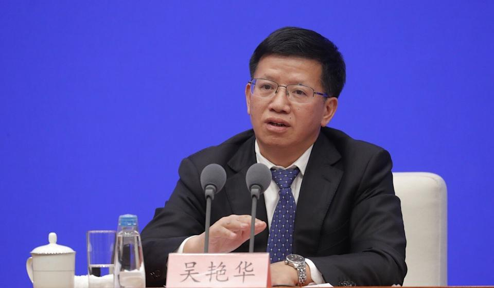 Wu Yanhua, deputy director of the CNSA, says China is willing to share its lunar samples with organisations and scientists around the world. Photo: EPA-EFE