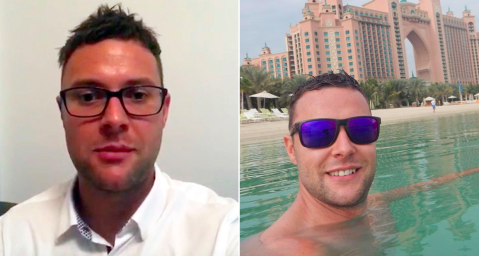 <em>Jamie Harron recorded a message thanking supporters during his ordeal in Dubai (SWNS)</em>