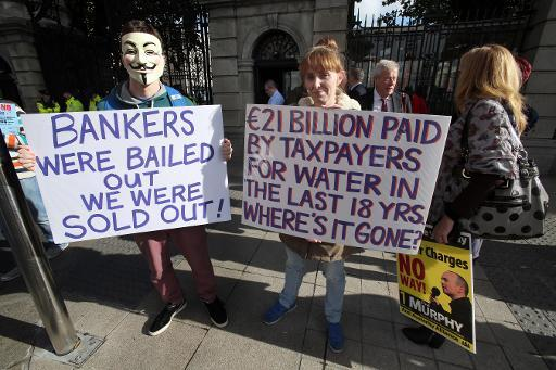 Thousands protest against Irish water austerity