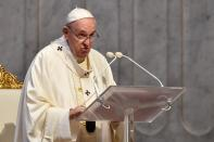 Pope Francis holds the traditional Corpus Christi feast Mass