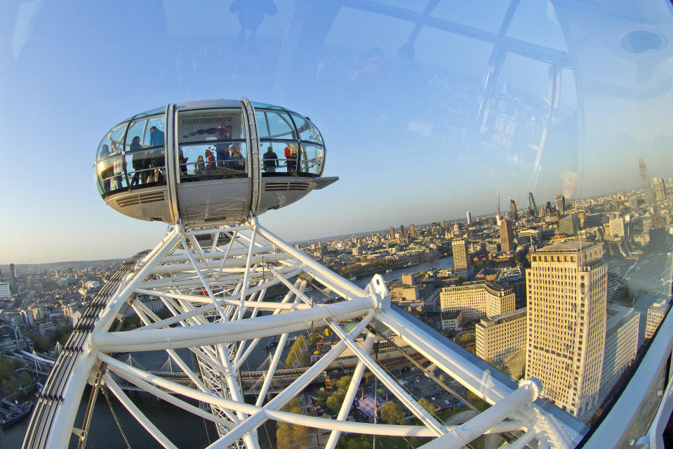 Aerial View from London Eye, London, England. Photo: Getty