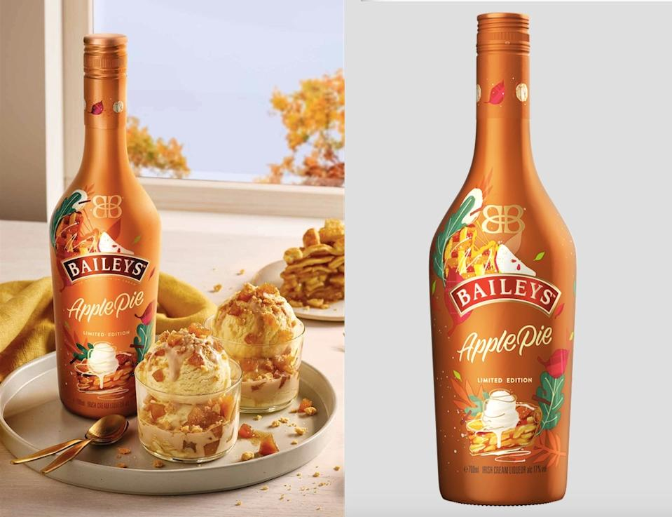 Baileys have launched a limited edition Apple Pie flavour and its the perfect Autumn tipple. (Baileys/The Bottle Club)
