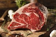"""<p>To get the lowdown on all things prime rib, we spoke with Chef Isaac Toups of <a href=""""http://toupsmeatery.com/about/?referrer=yahoo&category=beauty_food&include_utm=1&utm_medium=referral&utm_source=yahoo&utm_campaign=feed"""" rel=""""nofollow noopener"""" target=""""_blank"""" data-ylk=""""slk:Toups' Meatery"""" class=""""link rapid-noclick-resp"""">Toups' Meatery</a> in New Orleans. His No. 1 tip for buying prime rib is to splurge on a high-quality piece of beef, if you're able. Prime rib doesn't come cheap — which is why it's typically reserved for special occasions — and so Toups said that if you're going to go for it, you should go all out. """"Find a good butcher, someone you trust. Find well-marbled meat,"""" he said. """"If you get the best piece of meat and you mess it up a little bit, you're still going to have a good steak. But if you start with grade C meat, no matter what you do with it, it's never going to be above a C.""""</p>"""