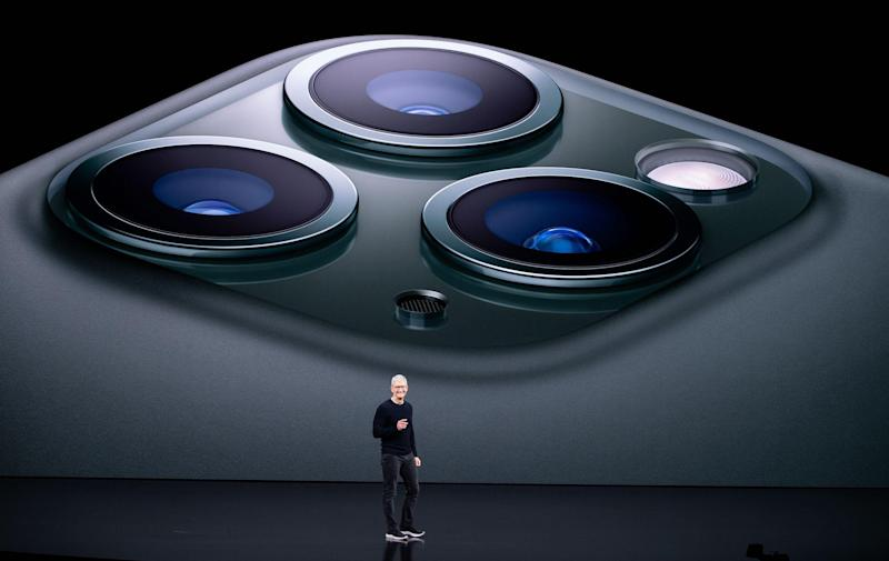 Apple CEO Tim Cook speaks on-stage during a product launch event at Apple's headquarters in Cupertino, California on September 10, 2019: JOSH EDELSON/AFP via Getty Images