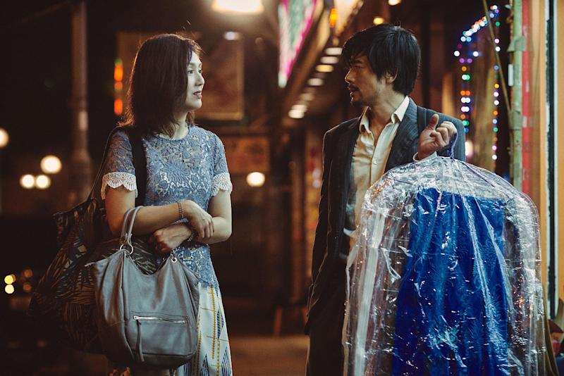 Miriam Yeung and Aaron Kwok in I'm Livin' It. (Photo: Golden Village Pictures)