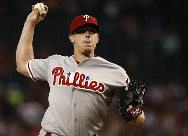 "Veteran right-hander <a class=""link rapid-noclick-resp"" href=""/mlb/players/8415/"" data-ylk=""slk:Jeremy Hellickson"">Jeremy Hellickson</a> was traded to the Orioles for a minor league pitcher. (AP)"