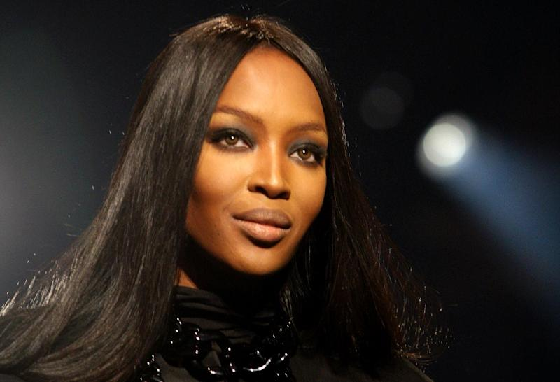 British supermodel Naomi Campbell during a charity fashion show outside Moscow on March 9, 2009