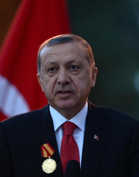 Turkish President Recep Tayyip Erdogan is set to unveil his new presidential palace on the outskirts of Ankara, denounced by ecologists as an environmental blight (AFP Photo/Wakil Kohsar)