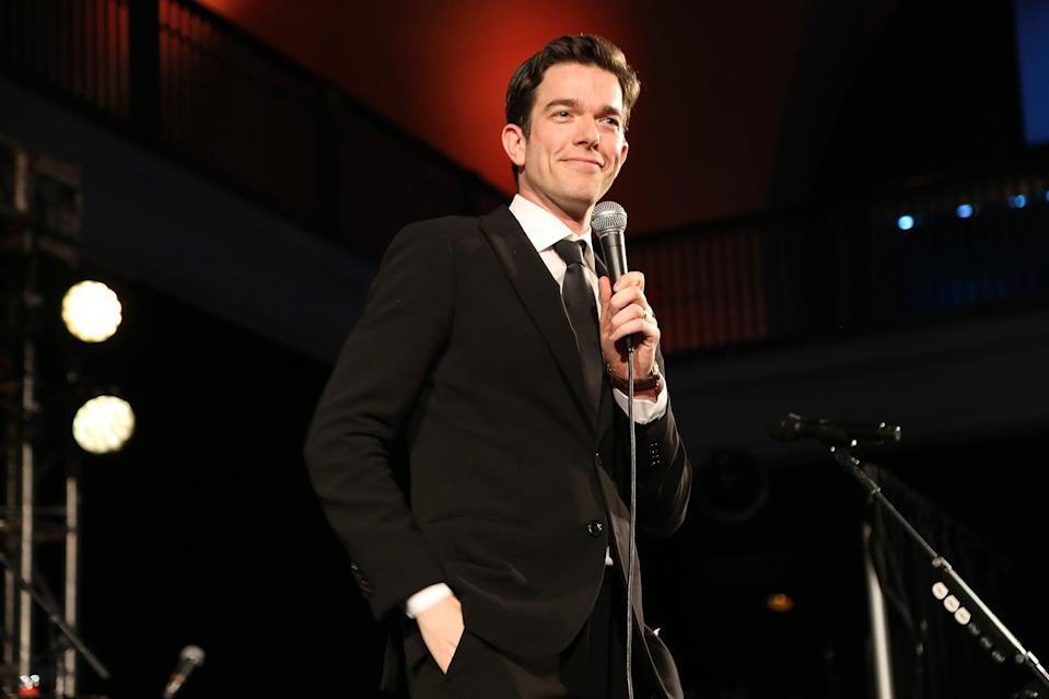 NEW YORK, NEW YORK - NOVEMBER 21: John Mulaney speaks onstage during The American Museum of Natural History's 2019 Museum Gala at American Museum of Natural History on November 21, 2019 in New York City. (Photo by Sylvain Gaboury/Patrick McMullan via Getty Images)