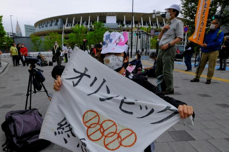 There have been protests in Japan calling for the Olympics to be cancelled