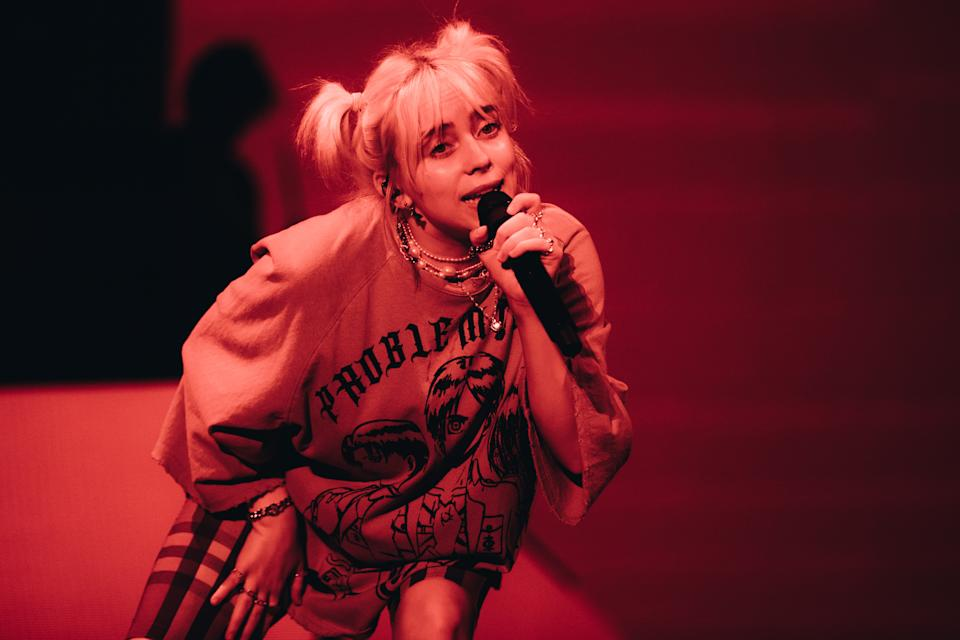 AUSTIN, TEXAS - OCTOBER 02: Billie Eilish performs onstage during Austin City Limits Festival at Zilker Park on October 02, 2021 in Austin, Texas. (Photo by Rich Fury/Getty Images)