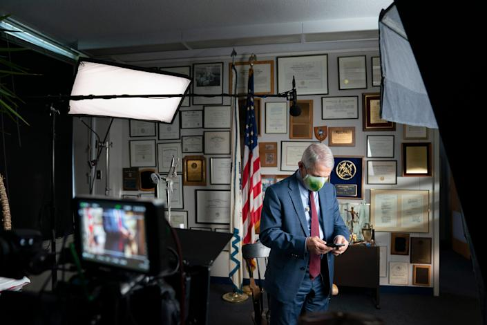 Dr. Anthony Fauci during an interview at the NIH in Bethesda, Maryland.