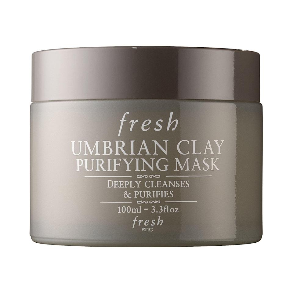 """<p><strong>Fresh</strong></p><p>sephora.com</p><p><strong>$23.00</strong></p><p><a href=""""https://go.redirectingat.com?id=74968X1596630&url=https%3A%2F%2Fwww.sephora.com%2Fproduct%2Fumbrian-clay-purifying-mask-P54104&sref=https%3A%2F%2Fwww.countryliving.com%2Fshopping%2Fgifts%2Fg31701949%2Fbirthday-gifts-for-mom-1584460668%2F"""" rel=""""nofollow noopener"""" target=""""_blank"""" data-ylk=""""slk:Shop Now"""" class=""""link rapid-noclick-resp"""">Shop Now</a></p><p>Your mom can enjoy an at-home spa night with this sleek clay face mask.</p>"""