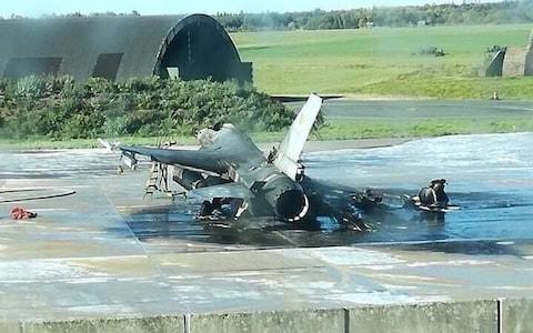 A maintenance worker accidentally fired a 20mm Vulcan cannon from an F-16 jet he was working on at Belgium's Florennes Air Force Base earlier this week, destroying another F-16 while damaging another aircraft nearby