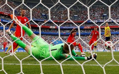 Jordan Pickford kept his first clean sheet of the World Cup against Sweden. These were the important saves from the 2-0 win. Diving save from Marcus Berg's header three minutes after half time You look at where the one weakness is in England's defence and it's the relatively small full-backs defending far post crosses. I think a lot of Sweden's play was deep crosses aimed at Ashley Young or Kieran Trippier because they knew they wouldn't get much change out of the other three defenders. Sweden managed to get one right in that instance but those moments turn games and that one was a game defining save. If that chance had gone in, it might have been a very different match and I think it epitomised Jordan's performance. Berg's header came in and Jordan used his feet to push off the deck and every ounce of his body is going through the ball at that moment, which gives him the ability to use his hands to push it away from danger. That strength comes from everywhere. From the ankles, through your legs, through your hips - they call it a triple extension - everything goes through the ball. Your hands are not soft exactly but you need to use the strength in your body to be able to utilise the muscles in your hand to manipulate the shot and he manipulated it very well. Jordan Pickford kept his first clean sheet of the World Cup against Sweden Credit: REUTERS/Max Rossi Jordan does strength, power and agility work in training, on and off the pitch, and bear in mind how much force there can be on shots, you're meeting the ball on your line and not just having to stop it but completely redirect it. Unlike Robin Olsen, the Sweden goalkeeper, for Harry Maguire's goal, the one advantage Jordan had was of knowing that there were only two people - Berg and Young - who can head it. That's an advantage compared to the ball into a scrummage that Olsen had to deal with. Olsen looked set but then he took another little hop when Maguire went to head and just didn't react, he didn't get int