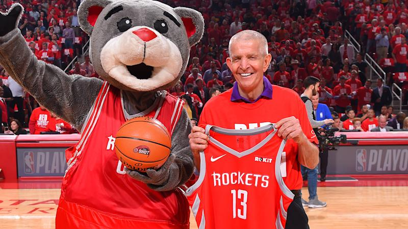 Jim McIngvale, pictured here at a Houston Rockets game in 2019.