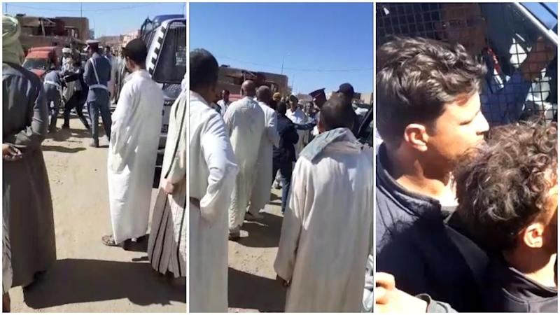 Residents of Moroccan town trap police officer in his car after he slaps a teacher