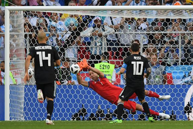 Lionel Messi missed a penalty for Argentina vs. Iceland. (Getty)