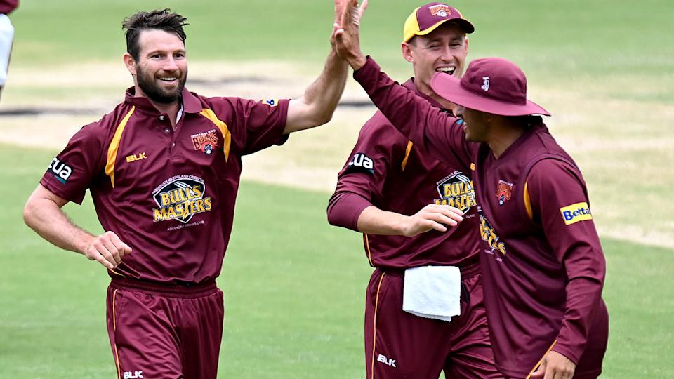 Queensland's Michael Neser ripped through Western Australian top order to set up an easy Marsh Cup victory. (Photo by Bradley Kanaris/Getty Images)