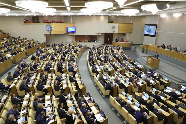 Russia's State Duma meets on Nov. 15. (Vyacheslav Prokofyev via Getty Images)