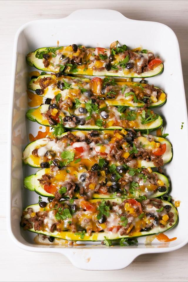 "<p>More meat. Less carbs. </p><p>Get the recipe from <a rel=""nofollow"" href=""https://www.delish.com/cooking/recipe-ideas/a19757076/burrito-zucchini-boats-recipe/"">Delish</a>.</p><p><a rel=""nofollow"" href=""https://www.amazon.com/Kuhn-Rikon-4-Inch-Nonstick-Colori/dp/B002NWL2QY?tag=delish_auto-append-20&ascsubtag=[artid