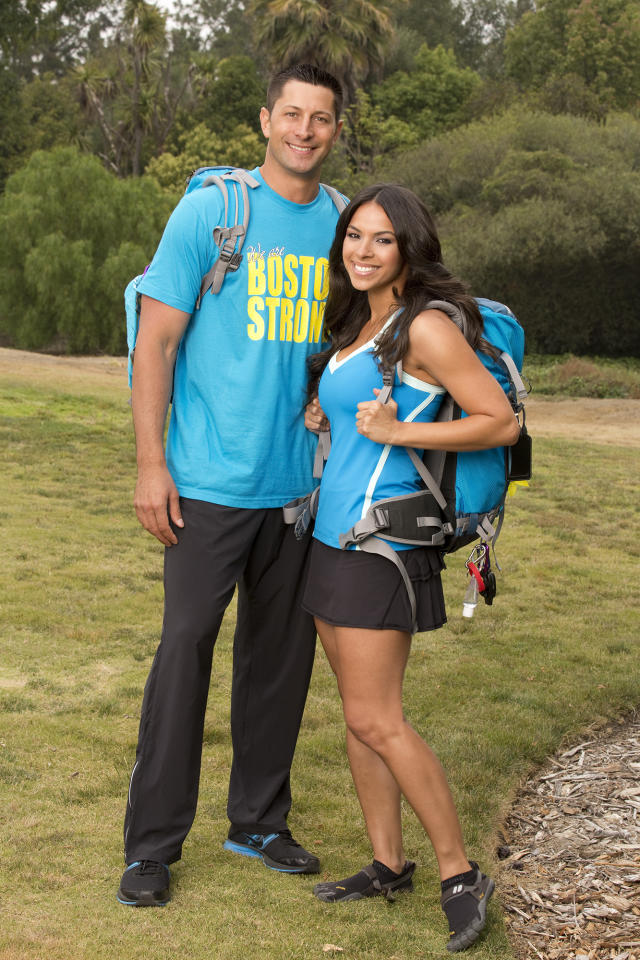 "Dating couple Jason Case and Amy Diaz compete in a sprint around the globe for $1 million dollars on the new season of ""The Amazing Race."""