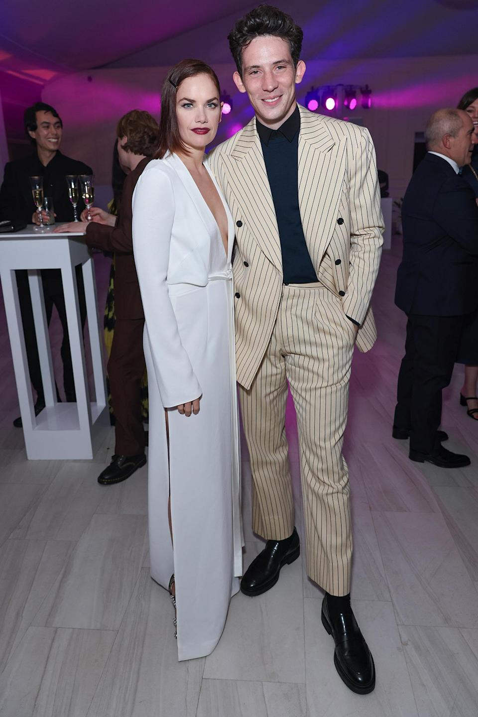 <p>Ruth Wilson and Josh O'Connor look glam at the star-studded Bulgari High Jewelry Gala on Oct. 12 at Kensington Palace in London. </p>